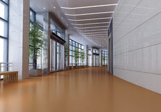 3d futuristic corridor Stock Photography