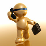 3d Futuristic Icon On The Phone Royalty Free Stock Photography
