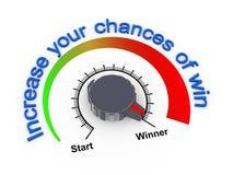 3d gałeczka - przyrostowe szansy wygrana royalty ilustracja
