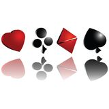 3d gambling cards symbols. Gambling cards symbol over white background Royalty Free Stock Images