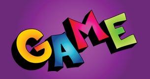 3D game word stock photos
