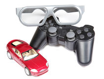3d gaming. Concept over white background Royalty Free Stock Photo