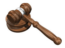 3D Gavel 2 Royalty Free Stock Image
