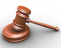 3d gavel Royalty Free Stock Image