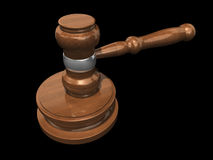 3D Gavel 3 Stock Photo