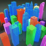 3D Gay City Stock Image
