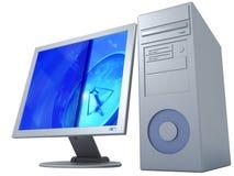 3d geïsoleerded computer royalty-vrije illustratie