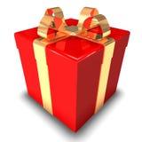 3D Geïsoleerdeg Rood van de Gift Royalty-vrije Stock Afbeelding