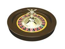 3D geïsoleerdez wiel van de Roulette Stock Afbeelding