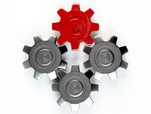 3D GEAR. On white background Royalty Free Stock Photo