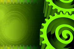 3d gear. Illustration art of a 3d dream gear with green background Royalty Free Stock Image