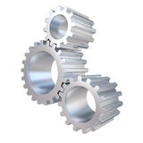 3d gear wheels system Stock Image
