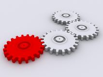 3d gears Stock Image