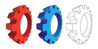 3D gears. On the white background Stock Images