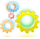 3d gears icons. Vector 3d gears icons. Simple change Stock Images
