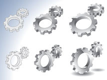 3d gears isolated vector Royalty Free Stock Photography