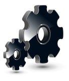 3d gears logo Royaltyfri Illustrationer