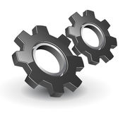 3d gears logo Arkivfoton