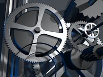 3d gears metall Royaltyfria Foton