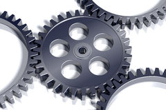3d gears stål Royaltyfri Illustrationer