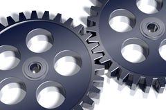 3d gears stål Arkivbild