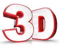 3D gedenkwürdig und Zahl-dreidimensionale Betrachtung lizenzfreie abbildung