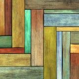 3d geef de gekleurde houten achtergrond van de houtplank terug Stock Afbeelding