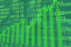 3d geef De Pijl van de Grafiek van de Effectenbeurs terug Stock Foto