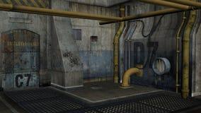 3D geef Industriezone terug Royalty-vrije Stock Foto