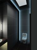 3D geef modern binnenland van toilet terug Royalty-vrije Stock Foto's