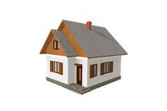 3D geef Traditioneel Huis terug Royalty-vrije Illustratie