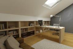 3d geef van een modern ontwerp interior.exclusive terug Royalty-vrije Stock Fotografie
