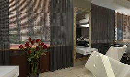 3d geef van een modern ontwerp interior.exclusive terug Royalty-vrije Stock Afbeelding