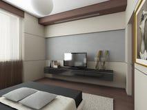 3d geef van een modern ontwerp interior.exclusive terug Royalty-vrije Stock Foto