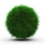 3d geef van groene grasbal terug Stock Afbeelding