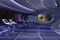 3D geef van ruimteschip terug royalty-vrije illustratie
