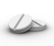 3d geef van twee pillen terug Stock Fotografie