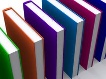 3d gekleurde boeken royalty-vrije illustratie
