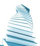 3d gekleurde boeken massief voor ontwerp Stock Afbeelding