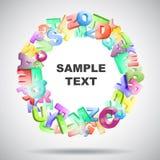 3d gekleurde brieven Stock Afbeeldingen