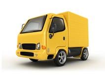 3D Gele geïsoleerdel Bestelwagen Stock Foto