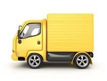 3D Gele geïsoleerder Bestelwagen Stock Fotografie
