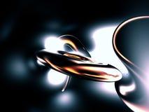 3D Gele Gouden Samenvatting geeft Zwarte Achtergrond terug stock illustratie