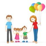 3d Gelukkige Familie in Vector Stock Foto's