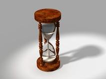 3d generó el vidrio de la hora con el camino de recortes en fondo cambiable Imágenes de archivo libres de regalías