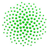 3d Generated Golden Ratio Dot Pattern Green Royalty Free Stock Photo