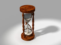 3d generated hour glass with clipping path on changeable background. 3d generated hour glass or sand clock with clipping path on changeable background stock illustration