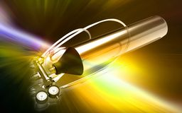 3d generated illustration of Aluminum oxygen tank Stock Image