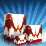 3d generics pudełkowaci produkty royalty ilustracja