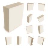3d generics pudełkowaci produkty ilustracja wektor